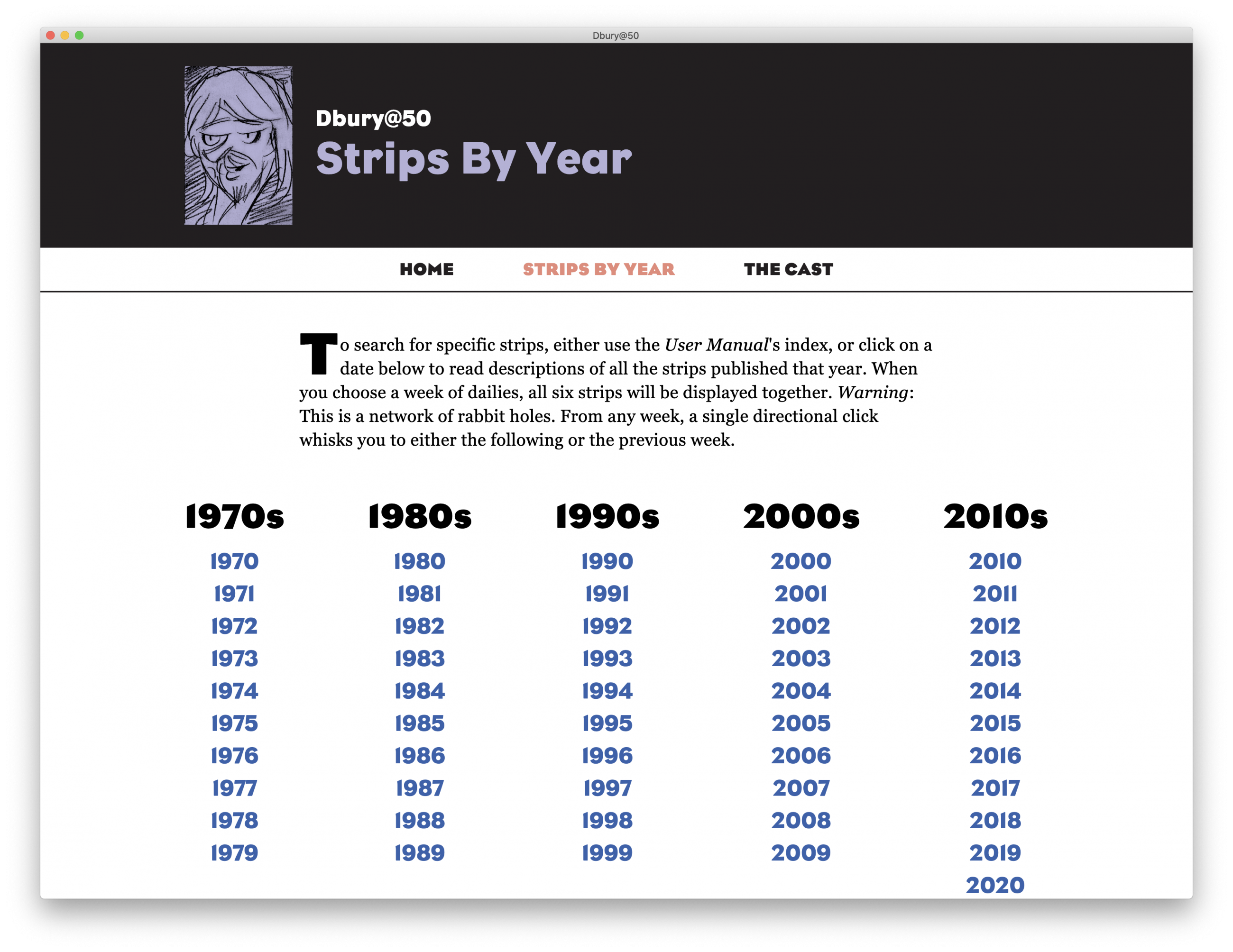 Strips by year